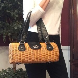 Wicker Barrel Purse